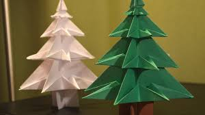 Christmas Tree In Chart Paper How To Make A Paper Christmas Tree