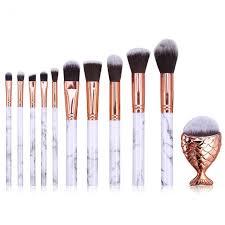 marble pattern makeup brushes set maquiagem base foundation powder blusher with fat fish make up brush