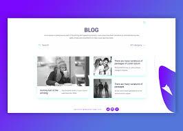 Blog Design Page Blog Page Design On Behance