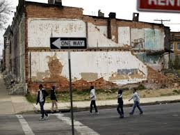 poverty in baltimore riots photos business insider kids roam the streets of one of baltimore s poverty stricken areas