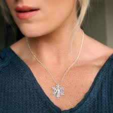 the tiffany aching snowflake necklace