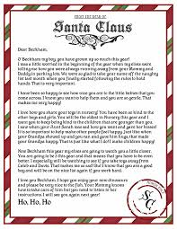 Free Printable Letter From Santa Word Template Printable Letter From