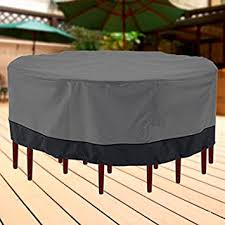 cover for outdoor furniture. outdoor patio furniture table and chairs cover 94u0026quot diameter dark grey with black hem for r
