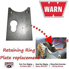 warn 8274 parts accessories 7552 warn winch retaining ring plate replacement part for repair on 8274 m8274