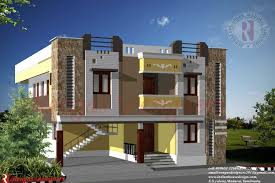 Indian House Design Double Floor Designs Front Elevation Plan Rare