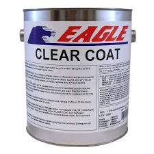 Eagle 1 Gal Clear Coat High Gloss Oil Based Acrylic Topping Over Exterior Clear Coat Over Acrylic Paint