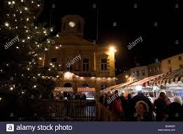 Kelso Christmas Lights Pre Christmas Late Shopping In Scottish Town Of Kelso