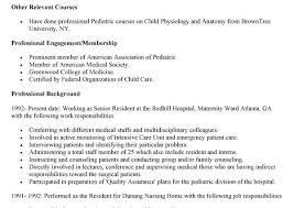 Resume For Pediatrician Curriculum Vitae English Example Free Resume Creator