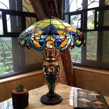 chloe tiffany style victorian design 2 and 1 light table lamp com