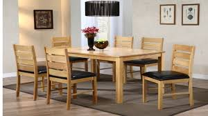 Rubberwood Kitchen Table Dining Table And 6 Chairs Rubber Wood Homegenies