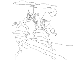 Small Picture Peter Pan And Tinkerbell Coloring Pages GetColoringPagescom