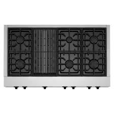 gas cooktop with grill. Gas Cooktop In Stainless Steel With Grill And 6 Burners Including Two T