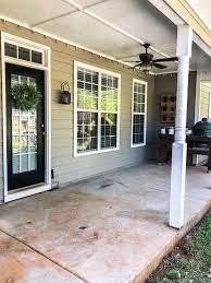 how to paint a concrete porch or patio