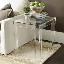 Felicity Clear Acrylic Rectangular Side Table