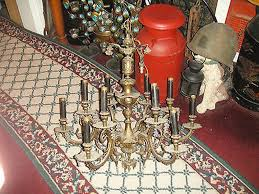 gold painted antique gothic chandelier chain