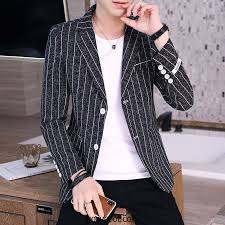 Blazer <b>Mens</b> Cheap Suit <b>Tops</b> Coat <b>Men</b> Suit <b>Personality Black</b>