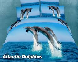 atlantic dolphins by dolce mela 4 pc twin size duvet cover set in a beautiful dolce mela gift box dm425t