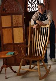 windsor style rocking chair built by mark schofield to plans made by peter galbert