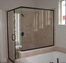semi frameless glass shower door