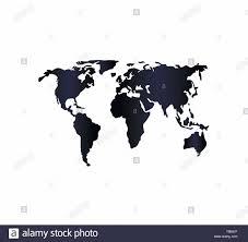 World Map Flat Design World Map Pictogram Flat Design Stock Vector Art