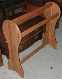 Amish made heavy duty floor standing quilt rack - in solid oak & solid oak amish quilt rack with flat sides Adamdwight.com