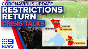 The lockdown went into place hours before the border between the state of victoria, of which melbourne is the capital, and new south wales (nsw) was due to close. Coronavirus Victoria S New Restrictions Melbourne Lockdown Calls 9 News Australia Youtube