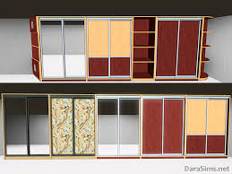 sims 3 sliding wardrobe set by dara savelly