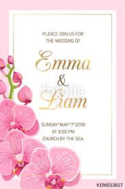 Wedding Event Invitation Card Template On Pink Background ...