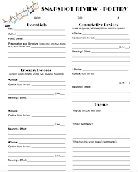 Types Of Poems Worksheets Worksheets for all | Download and Share ...
