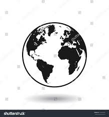 Detailed Black White World Map Mapped Stock Vector Royalty Free