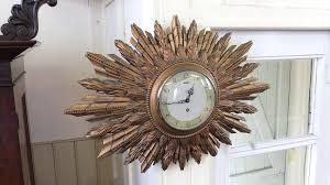 antique sunburst clock vintage wall