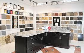 atlanta gra granite countertop showroom with white quartz countertops