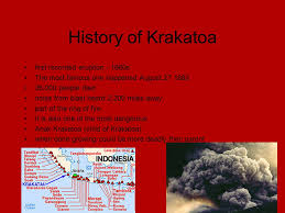 Image result for Its explosive eruption in 1883 was one of the most catastrophic in history