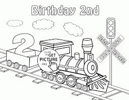 Coloring Pages Printable Trains Fresh Happy 2nd Birthday Card With
