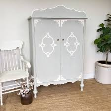 armoire furniture antique. Vintage Armoire - Antique Chifferobe Furniture Wardrobe Distressed Shabby Nursery