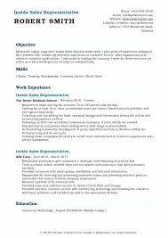 Inside Sales Rep Resume Inside Sales Resume Inside Sales Resume ...