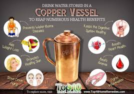 according to ayurveda drinking copper enriched water first thing in the morning on an empty stomach helps balance all three doshas kapha vata and pitta