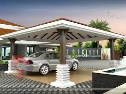 3d rendering bungalow modeling bird s eye view