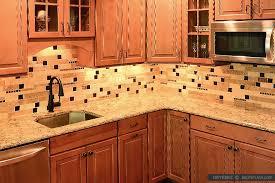 kitchen brown glass backsplash.  Brown Travertine Backsplash Brown Glass Design Inside Kitchen