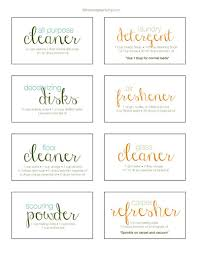 Recipe Labels Homemade Cleaning Recipe Free Printable Labels Five Spot