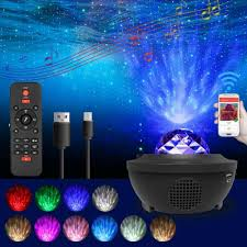 Ocean Lighting Returns Led Starry Night Sky Projector Lamp Ocean Wave Star Light Room Romantic Decor