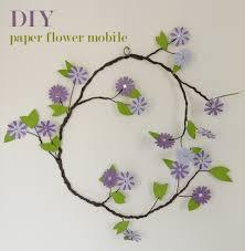 Paper Flower Stems Cute Diy Paper Flower Mobile For A Nursery Kidsomania