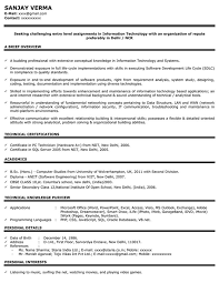 Fresher Job Resume Impressive Resume Format Freshers Experienced Cv Sample