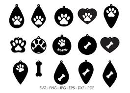 Paw animal cat print dog trace mouse reprint foot. Dog Paw Earring Dog Lover Jewelry Graphic By Redcreations Creative Fabrica