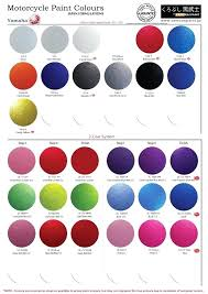 Bike Paint Colour Chart Samurai Paint Click Me To Download Color Chart Samurai