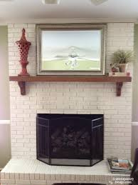 how to paint brick fireplace new painting fireplace brick white