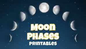 Phases Of The Moon Chart For Kids Phases Of The Moon Printables Gift Of Curiosity
