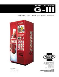 Vending Machine Manual Delectable Snack Refreshment Center 48 Parts Manual Vending Machines