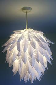 diy feather chandelier suspension globe decorated with plastic feathers diy ostrich feather chandelier