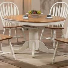 oak pedestal table painted white pedestal table antique white rustic oak modern furniture warehouse